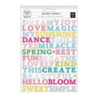 Pink Paislee - Bloom Street Collection - Puffy Word Stickers with Vinyl and Iridescent Foil Accents