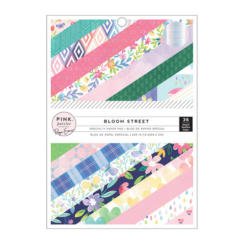 Pink Paislee - Bloom Street Collection - 6 x 8 Paper Pad with Iridescent Foil Accents