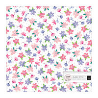 Pink Paislee - Bloom Street Collection - 12 x 12 Specialty Paper - Acetate with Iridescent Foil Accents