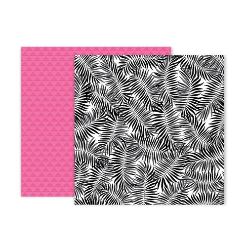 Pink Paislee - 5th and Monaco Collection - 12 x 12 Double Sided Paper - Paper 2