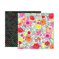 Pink Paislee - 5th and Monaco Collection - 12 x 12 Double Sided Paper - Paper 3
