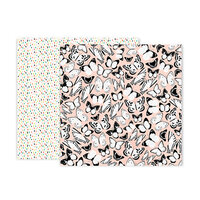 Pink Paislee - 5th and Monaco Collection - 12 x 12 Double Sided Paper - Paper 4