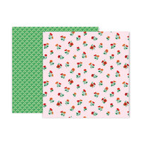 Pink Paislee - 5th and Monaco Collection - 12 x 12 Double Sided Paper - Paper 6