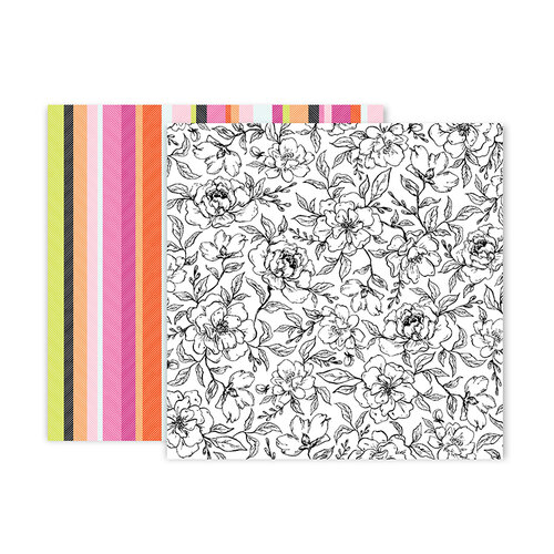 Pink Paislee - 5th and Monaco Collection - 12 x 12 Double Sided Paper - Paper 8
