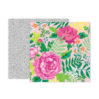 Pink Paislee - 5th and Monaco Collection - 12 x 12 Double Sided Paper - Paper 10