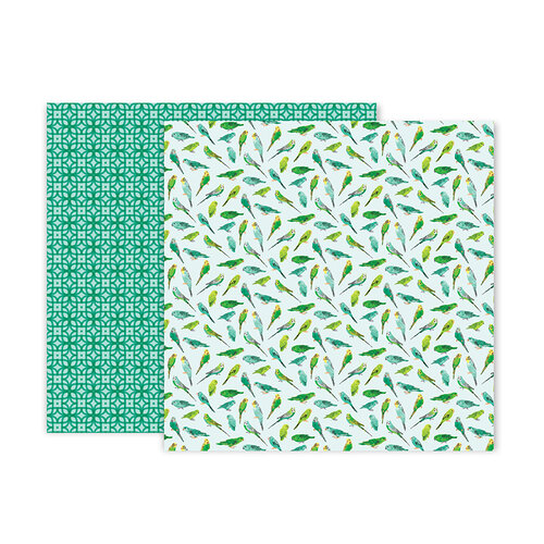 Pink Paislee - 5th and Monaco Collection - 12 x 12 Double Sided Paper - Paper 11