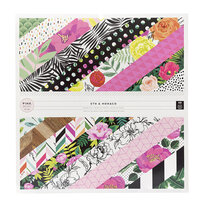 Pink Paislee - 5th and Monaco Collection - 12 x 12 Paper Pad