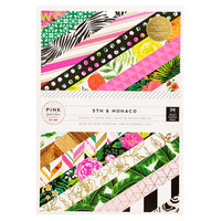 Pink Paislee - 5th and Monaco Collection - 6 x 8 Paper Pad with Gold Foil Accents