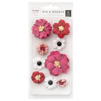 Pink Paislee - 5th and Monaco Collection - Dimensional Flowers