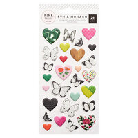 Pink Paislee - 5th and Monaco Collection - Puffy Stickers