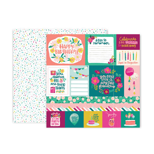 Pink Paislee - And Many More Collection - 12 x 12 Double Sided Paper - Paper 1