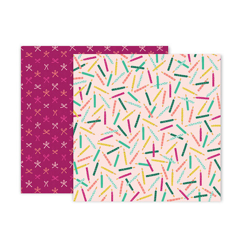 Pink Paislee - And Many More Collection - 12 x 12 Double Sided Paper - Paper 2