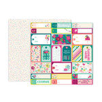Pink Paislee - And Many More Collection - 12 x 12 Double Sided Paper - Paper 4