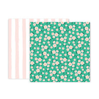 Pink Paislee - And Many More Collection - 12 x 12 Double Sided Paper - Paper 6