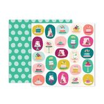 Pink Paislee - And Many More Collection - 12 x 12 Double Sided Paper - Paper 8