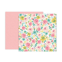 Pink Paislee - And Many More Collection - 12 x 12 Double Sided Paper - Paper 9