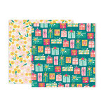 Pink Paislee - And Many More Collection - 12 x 12 Double Sided Paper - Paper 10