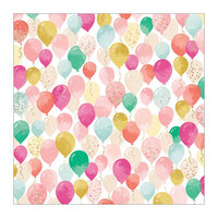 Pink Paislee - And Many More Collection - 12 x 12 Specialty Paper with Foil Accents