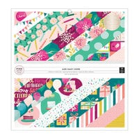 Pink Paislee - And Many More Collection - 12 x 12 Paper Pad with Foil Accents