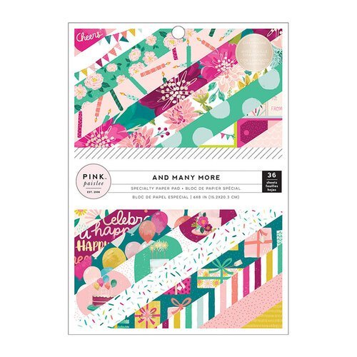Pink Paislee - And Many More Collection - 6 x 8 Paper Pad with Foil Accents