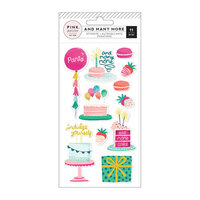 Pink Paislee - And Many More Collection - Embossed Puffy Stickers
