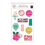 Pink Paislee - And Many More Collection - Layered Stickers with Glitter and Foil Accents