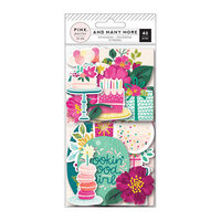 Pink Paislee - And Many More Collection - Ephemera with Foil Accents