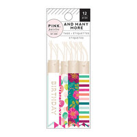 Pink Paislee - And Many More Collection - Skinny Tags with Foil Accents