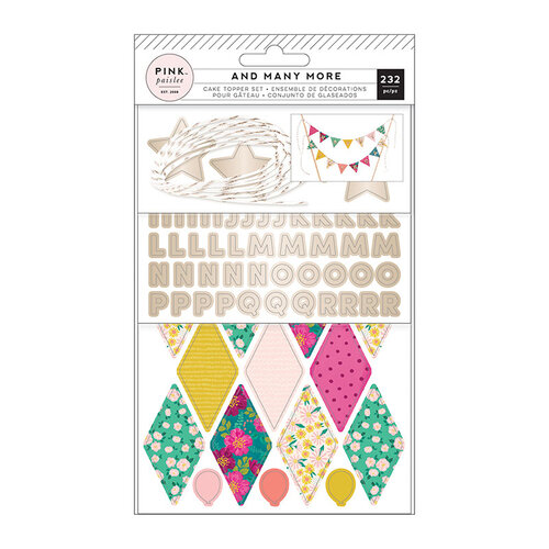 Pink Paislee - And Many More Collection - Cake Topper Bunting with Foil Accents
