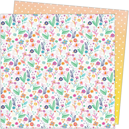 American Crafts - Go the Scenic Route Collection - 12 x 12 Double Sided Paper - Paper 14
