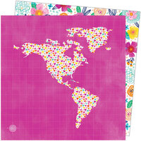 American Crafts - Go the Scenic Route Collection - 12 x 12 Double Sided Paper - Paper 18