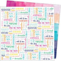 American Crafts - Go the Scenic Route Collection - 12 x 12 Double Sided Paper - Paper 21