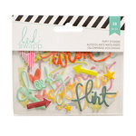 Becky Higgins - Project Life - Heidi Swapp Collection - Puffy Stickers - Phrase