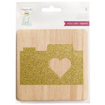 Becky Higgins - Project Life - Heidi Swapp Collection - 4 x 4 - Wood Glitter Cards