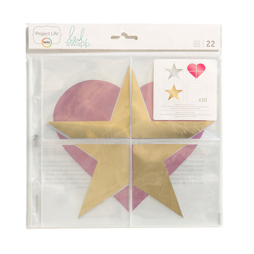 Becky Higgins - Project Life - Heidi Swapp Collection - 8 x 8 Foil Pocket Pages - 22 Pack