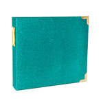 Becky Higgins - Project Life - Heidi Swapp Collection - Album - 8 x 8 D-Ring - Glitter - Teal