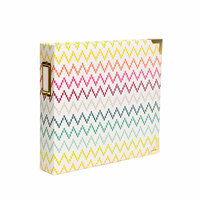 Becky Higgins - Project Life - Heidi Swapp Collection - Album - 8 x 8 D-Ring - Chevron