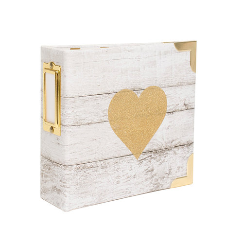 Becky Higgins - Project Life - Heidi Swapp Collection - Album - 4 x 4 D-Ring - Glitter Heart