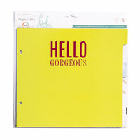 Becky Higgins - Project Life - Heidi Swapp Collection - 8 x 8 Album Pages - Tab Refills
