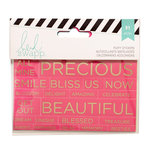 Becky Higgins - Project Life - Heidi Swapp Collection - Cardstock Stickers - Phrases - Gold