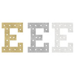 Heidi Swapp - Marquee Love Collection - Marquee Inserts - 8 Inches - E - Gold, Silver, and White Glitter - 3 Pack