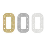 Heidi Swapp - Marquee Love Collection - Marquee Inserts - 8 Inches - O - Gold, Silver, and White Glitter - 3 Pack