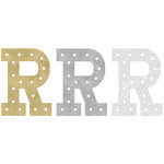 Heidi Swapp - Marquee Love Collection - Marquee Inserts - 8 Inches - R - Gold, Silver, and White Glitter - 3 Pack