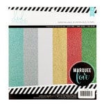 Heidi Swapp - Marquee Love Collection - Christmas - 8.5 x 8.5 Paper Pad - Glitter