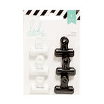 Heidi Swapp - Bulldog Clips - Black and White