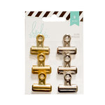Heidi Swapp - Bulldog Clips - Silver and Gold