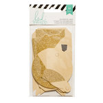 Heidi Swapp - Dipped Tags - Black White and Gold