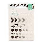 Heidi Swapp - Glitter Enamel Shapes - Black