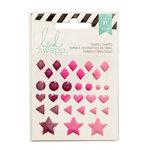 Heidi Swapp - Glitter Enamel Shapes - Pink