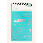 Heidi Swapp - Cardstock Stickers - Word Jumbles - Teal and Silver